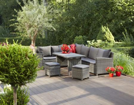 475055 greemotion gartenm bel loungeset miami loungegarnitur inkl tisch ebay. Black Bedroom Furniture Sets. Home Design Ideas