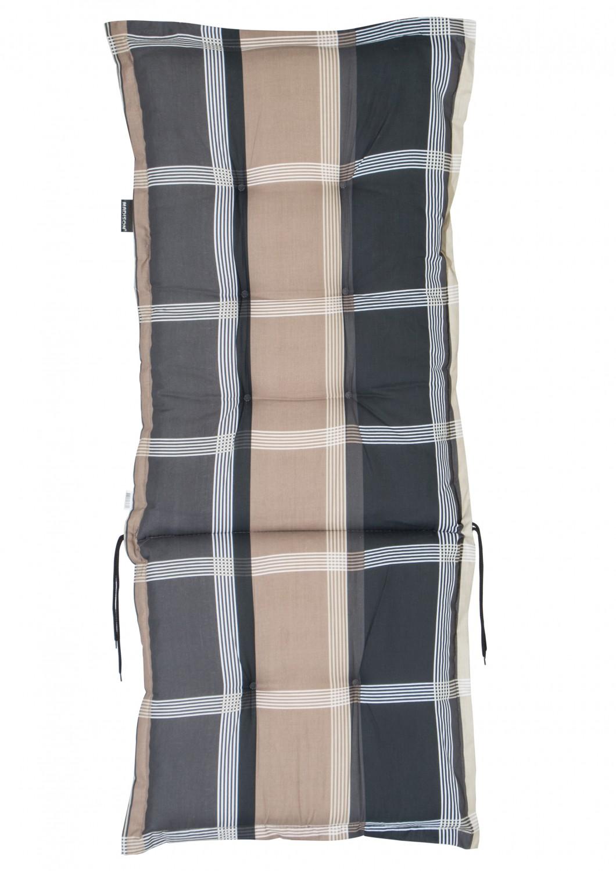 sesselauflage polster wide taupe hochlehner auflage von madison ebay. Black Bedroom Furniture Sets. Home Design Ideas