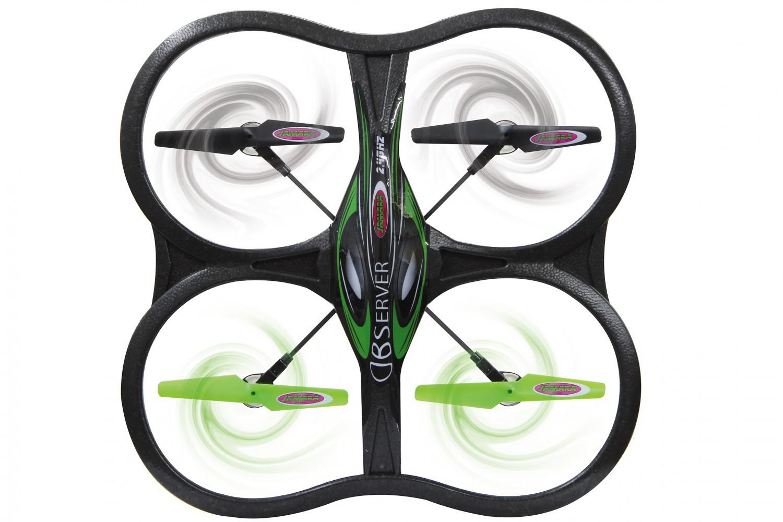 jamara rc helikopter observer ahp quadrocopter drohne mit video kamera kompass ebay. Black Bedroom Furniture Sets. Home Design Ideas