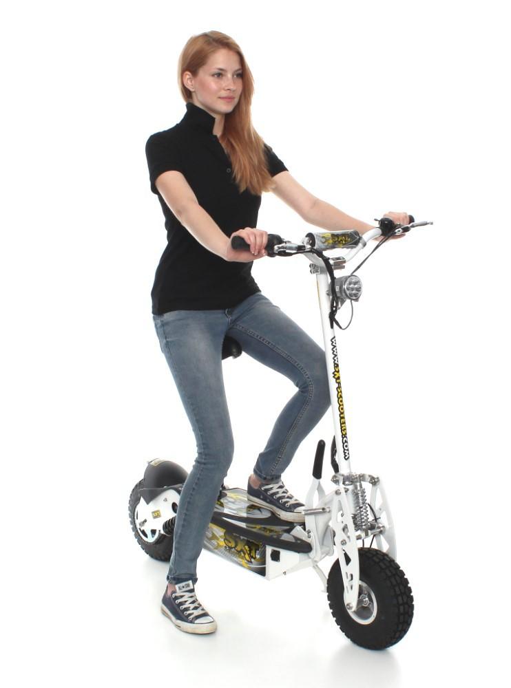 elektroroller sxt1000 turbo elektro scooter weiss 36v 12ah bleigel akku fun sport scooter. Black Bedroom Furniture Sets. Home Design Ideas