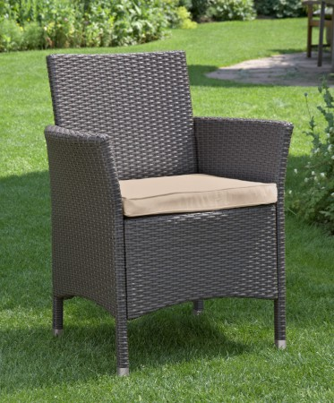 greemotion korbsessel xensa mit sitzkissen polyrattan garten sessel stuhl 429116 ebay. Black Bedroom Furniture Sets. Home Design Ideas
