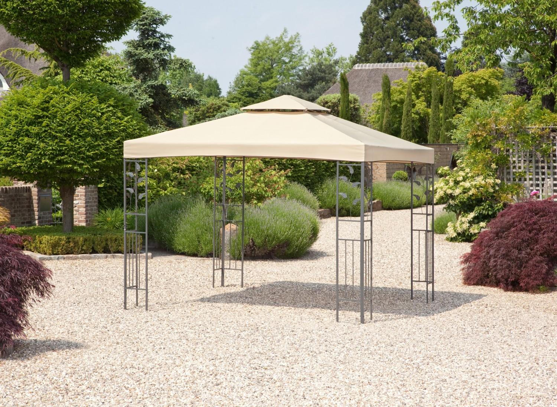 greemotion garten pavillon livorno beige uv schutz, Gartengerate ideen