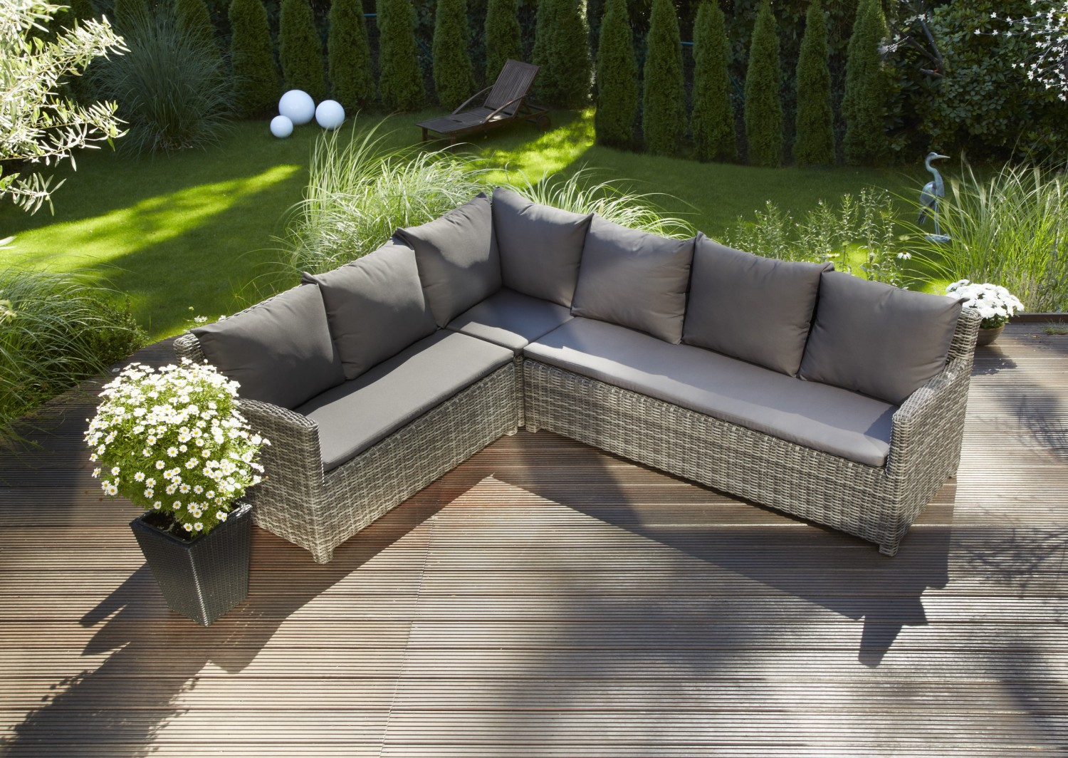 Greemotion gartenm bel loungset miami loungegarnitur bild for Greemotion gartenmobel